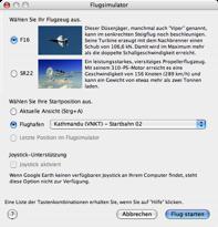Google Flight Sim Start