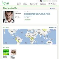 Kiva Lender Page
